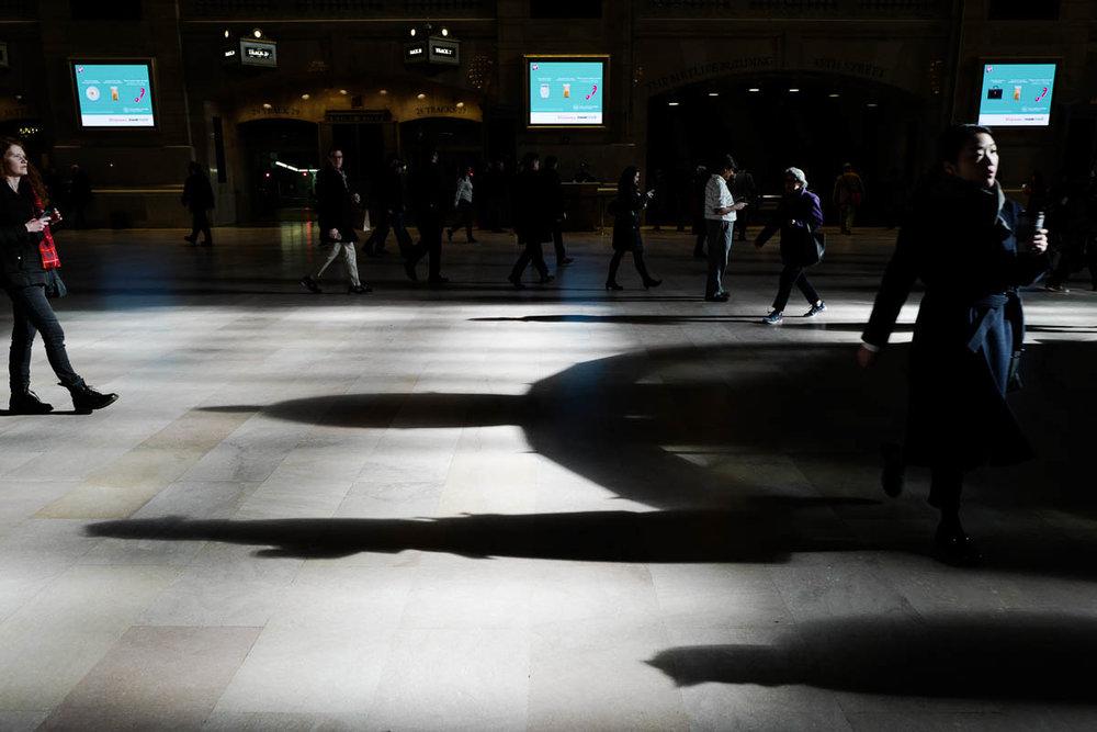 New York Scenes: Grand Central Station.