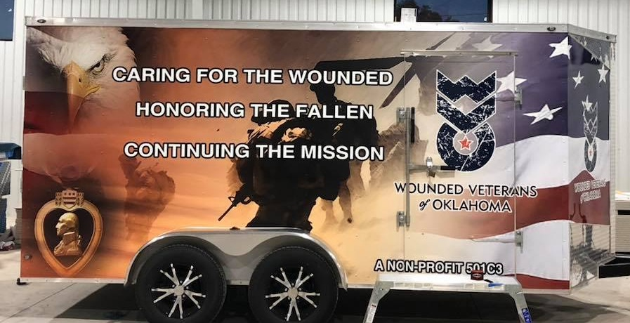 Wounded Veterans of Oklahoma Trailer Wrap - Vehicle Wraps by Royal Signs LLC - Hennessey, OK