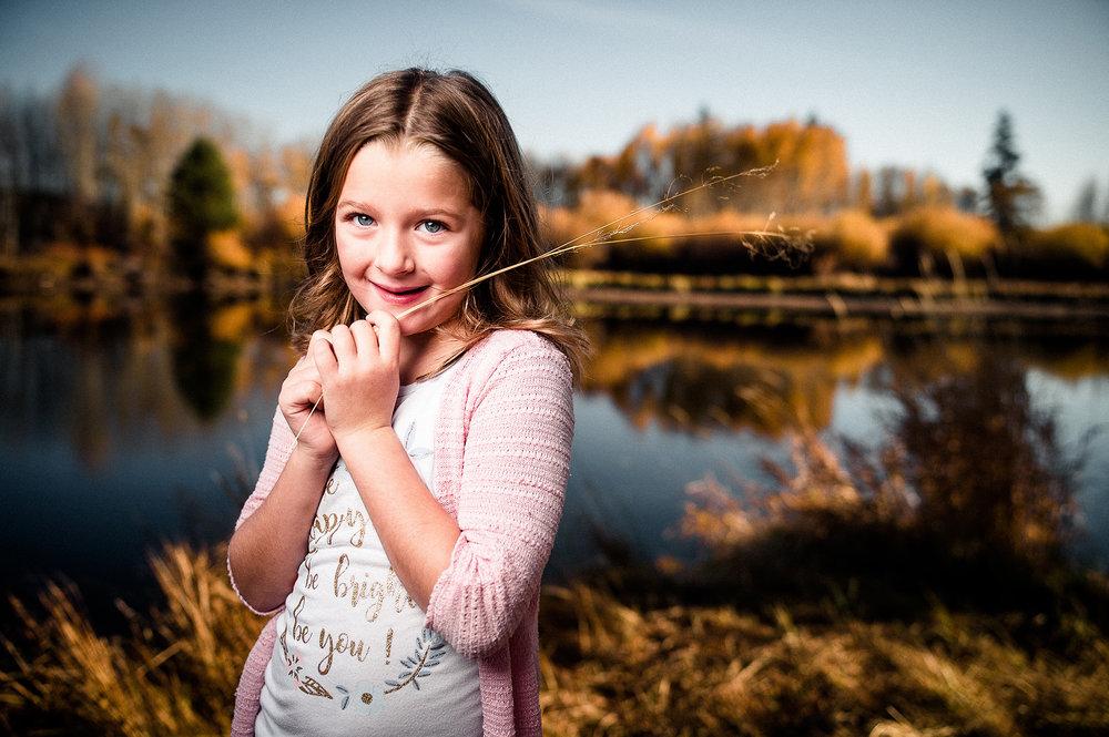 My kid, Eimear, on the Deschutes River.