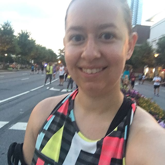 Getting ready for the Peachtree Road Race with 60,000 of my closest friends! #ajcprr #fourthofjulyrun #onlyalittlehumid