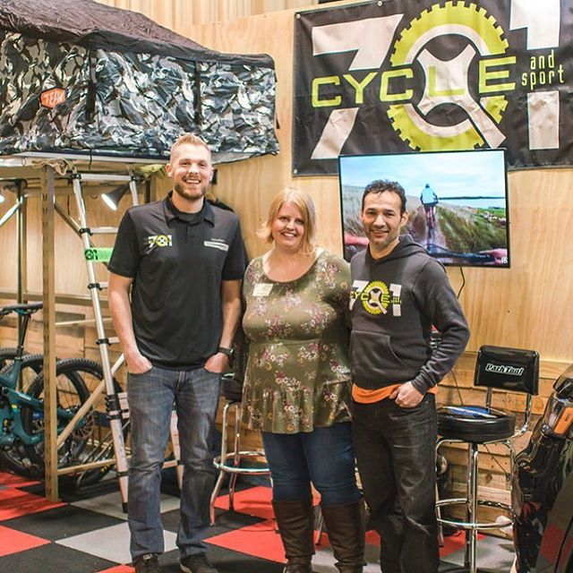 These two and other staff at 701 Cycle & Sport always put together a fantastic display at the Bismarck Tribune Sport Show! 🚲  thanks Brandi Cain photography for the great pics!  #701cycleandsport #mountainbikelife #bismarcknd #maahdaahhey #roadbikes #mountainbiketrails #bismarcksportsshow #bismarckeventcenter