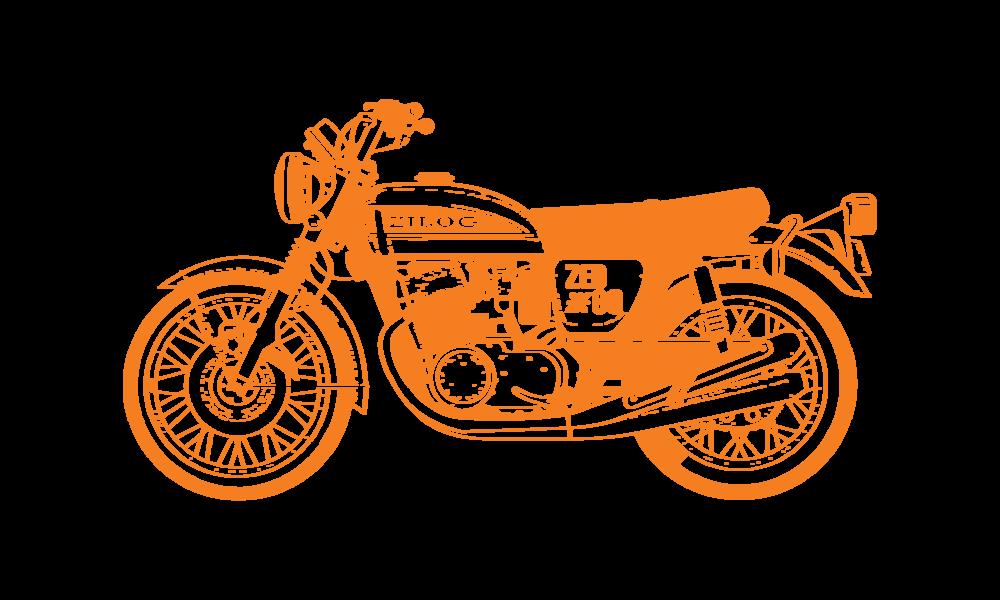Illustration of a Honda motorcycle