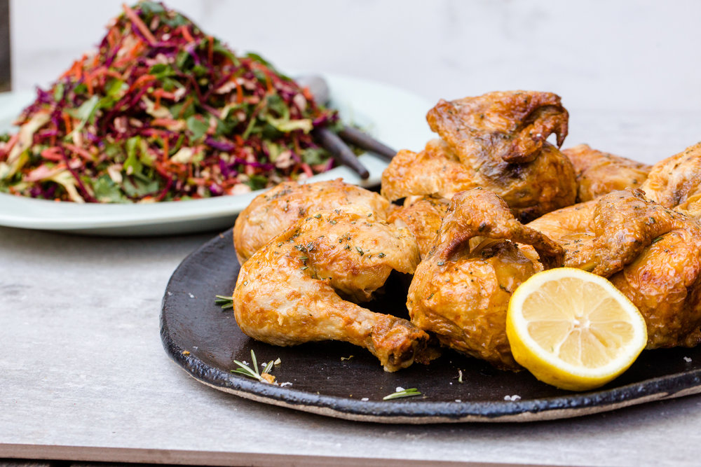 House Chicken and Cleansing Salad