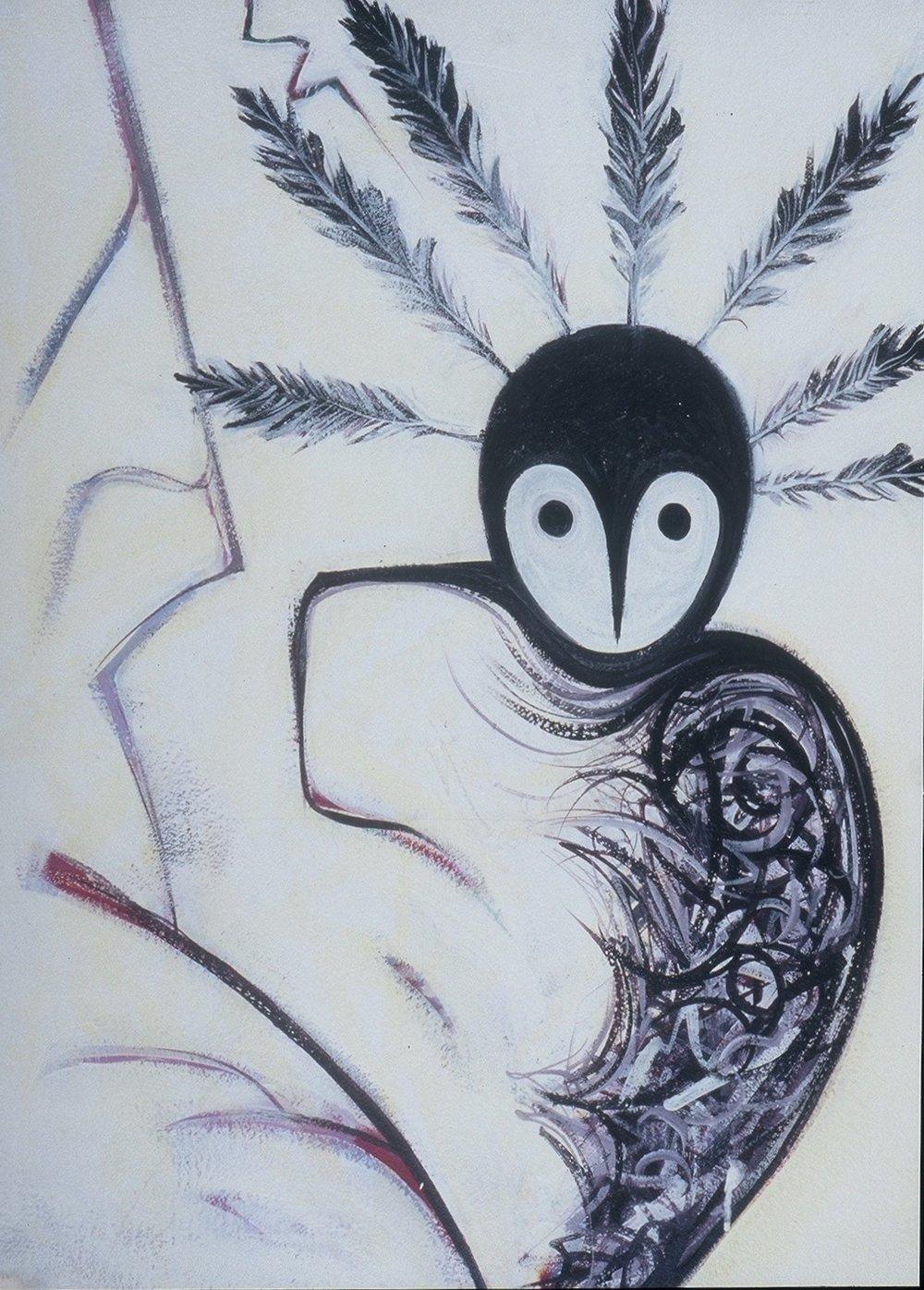 Raven Snowy Owl