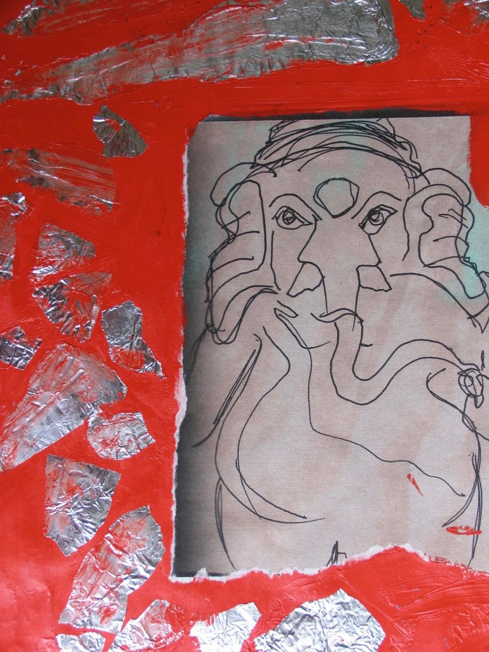 Sri Ganeshji Drawing/Collage