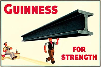 Guinness Poster from 1930s. John Gilroy.