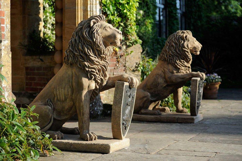Lions Bearing Shields