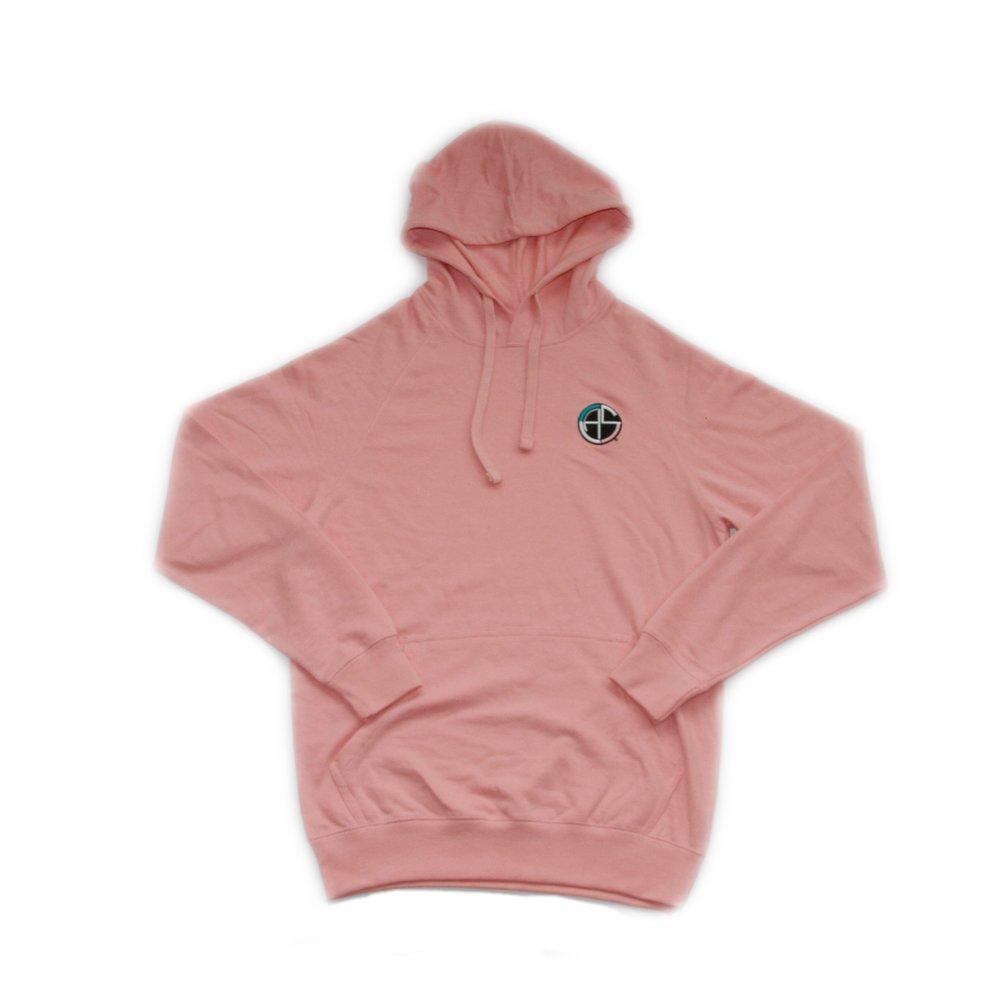 C.A.S. pink ZIP HOODIE -