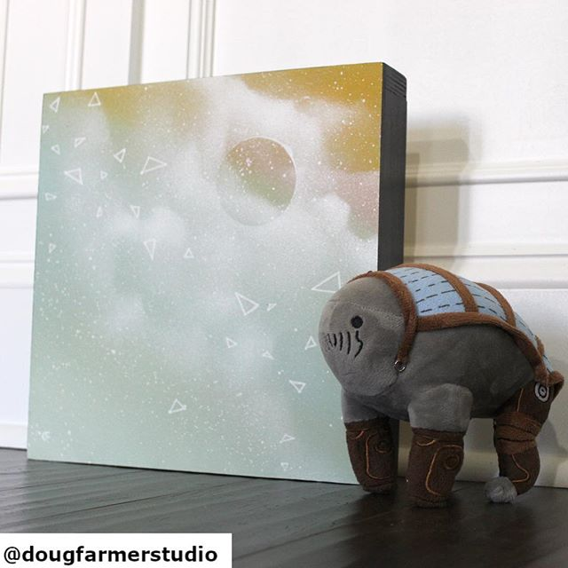 Bonus points if you know what the stuffed animal is (hint: #nerd). This is a little #tbt to about 5 years ago when I made this little piece and held onto it. I love that this mystery planet is shrouded in celestial dust. I would definitely have something like this next to me at work, very calming and comforting. . . . #thursdayvibes #thursdaymood #nerdart #nerdartist #talknerdytome #masseffect #spaceart #abstractart #maker #makersgonnamake #wallsculpture #constructivism #skypainting #colorcrushcreative #ihavethisthingwithcolor #emergingartist #instaart #artforsalebyartist #artcollector #interiorstyling #houston #houstonartist #galaxypainting #galaxyart