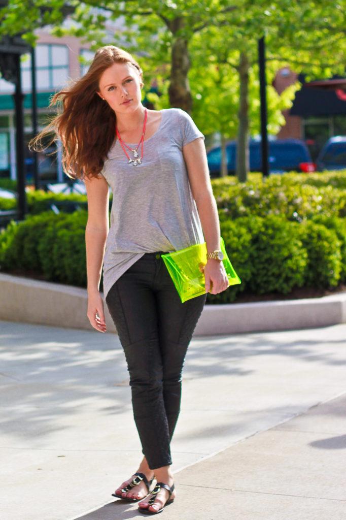 Neon clutch, translucent, spring fashion 2013