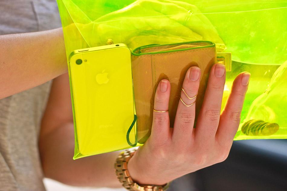 Translucent clutch