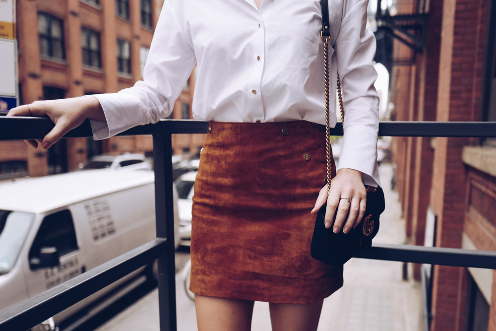 River Island Suede skirt
