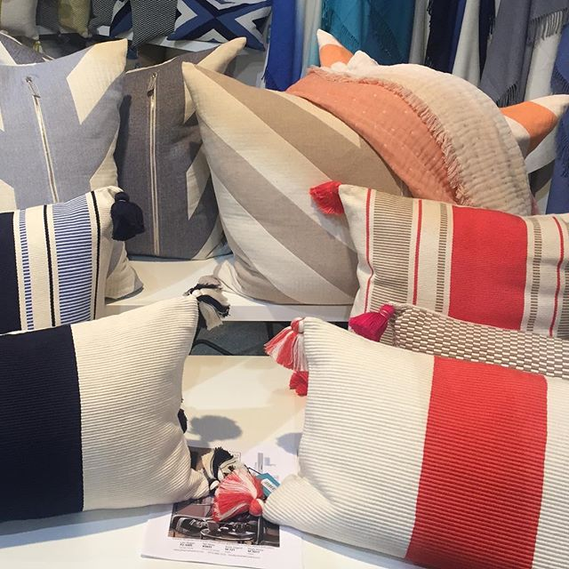 We found these gorgeous outdoor pillows at the Las Vegas market - what a happy palette!  Please follow us @katharine_webster for updates on Dash Lane as we are bringing this account to a close! An outdoor living destination, Dash Lane is open by appointment.