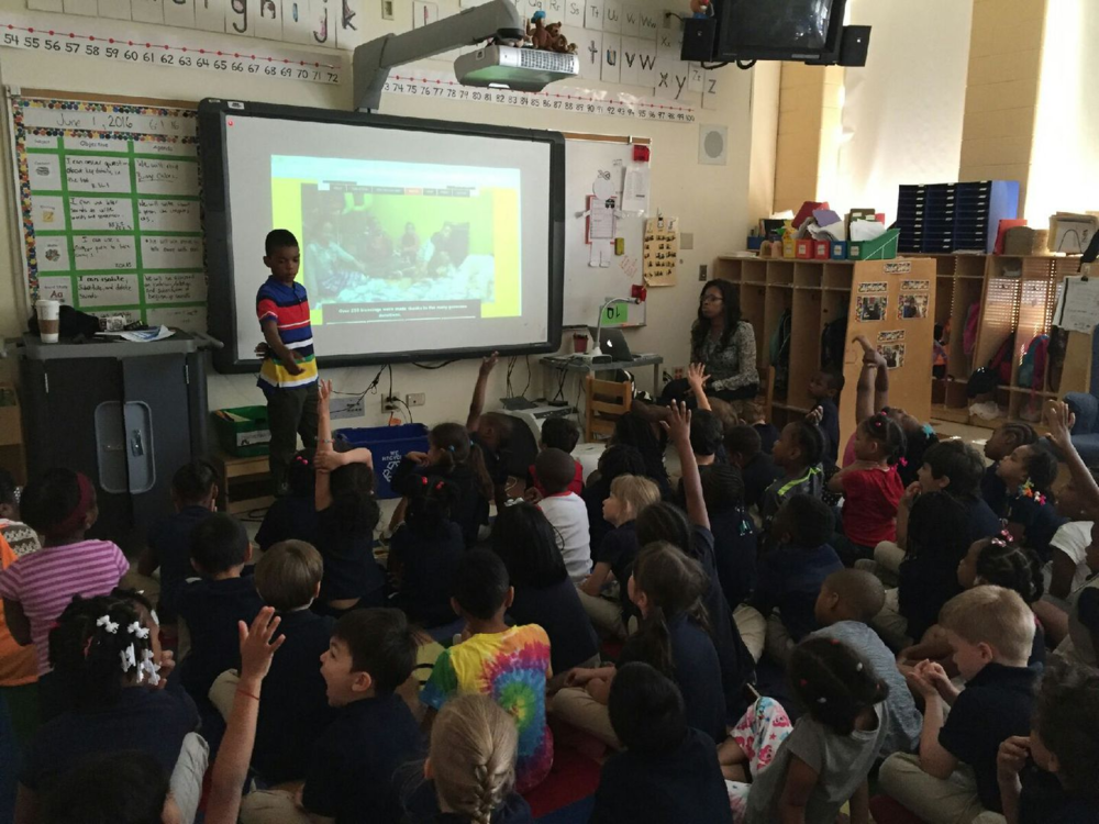 Jahkil speaking at NTA Elementary