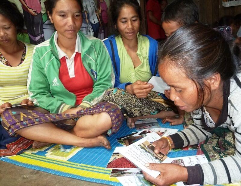 Women developing livelihood skills in Laos, © Nicole Motteux 2018