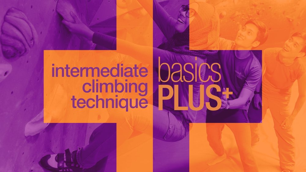 BasicsPLUS+ - 4 Sessions x 1.5 hoursGreat for climbers looking to to progress from 2p to 3p climbs, and the perfect follow-up from Basics. Increase your technique and movement repertoire in another series of 4 lessons to progress to the next level.You'll Learn• Intermediate climbing technique• Using momentum to climb• Overcoming overhanging terrainCan I Join• Youth and Adults aged 13 and above • Climbers with some experience on the wallWhat's NextBooster PackAll of that$200/ paxSpecial early bird rate $180/pax (closes 2 weeks before start of each cycle)‍*All prices comprise of entrance fees and rental of climbing equipmentDo note that there will be no make ups for classes missed. Max class size of 8, min size of 2. We reserve the right to cancel the class if there are fewer than 2 participants.