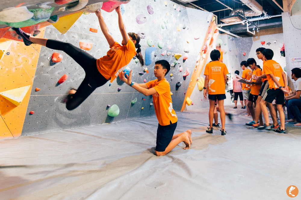 Ready for our Youth Team? - This is a special programme for selected youth to push their limits in competition style bouldering and lead climbing. Selection trials are conducted twice a year in May and November, find out more for requirements!