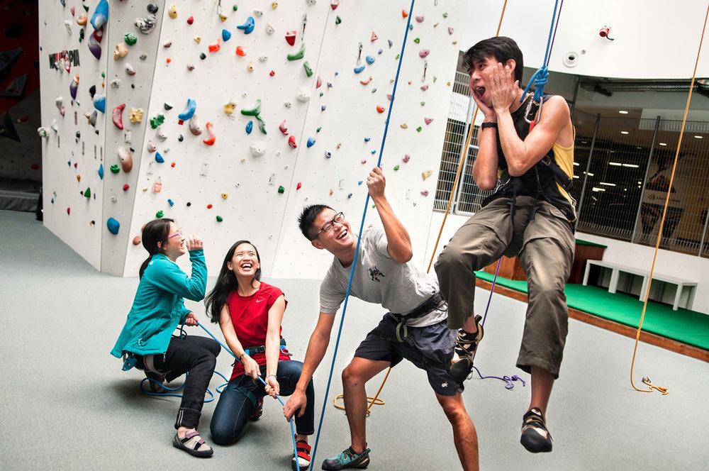 Team Bonding - Enjoy an indoor games day! This is a two hour programme with a team game incorporated into your introductory climbing experience.$35-$45 / person