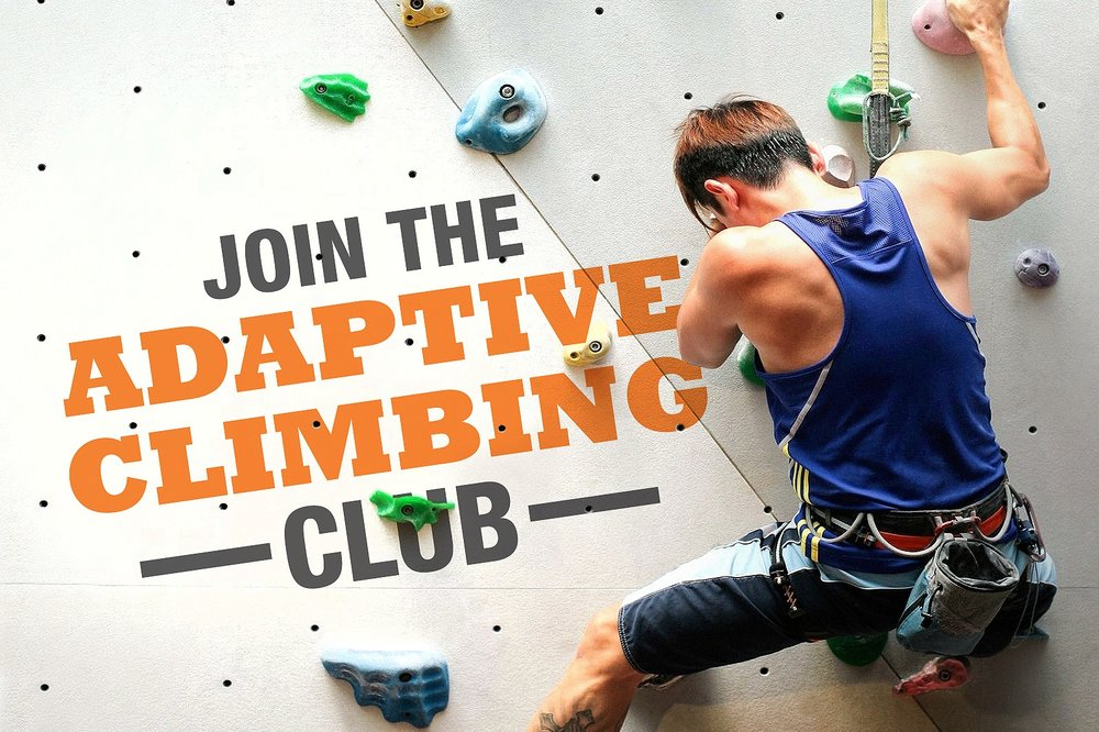 ADAPTIVE CLIMBING - Our special outreach programme to encourage persons with disabilities to try out climbing and meet like-minded individuals!