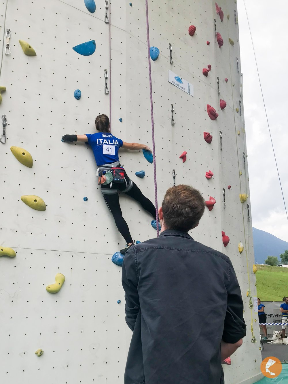 Strong Italian climber