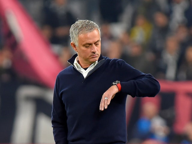 Jose Mourinho checking how much time he has left as coach  Photo Credit: Sports Mole