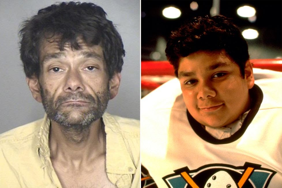"Shaun Weiss (left in a 2018 booking photo and right in ""The Mighty Ducks"")Oroville Police Department; Buena Vista Pictures"