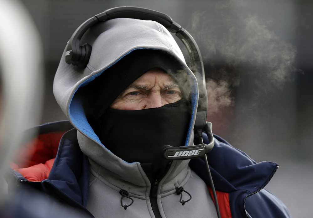 The Patriots are 26-7 on the road in December with Belichick and Brady  Photo Credit: Portland Press Herald