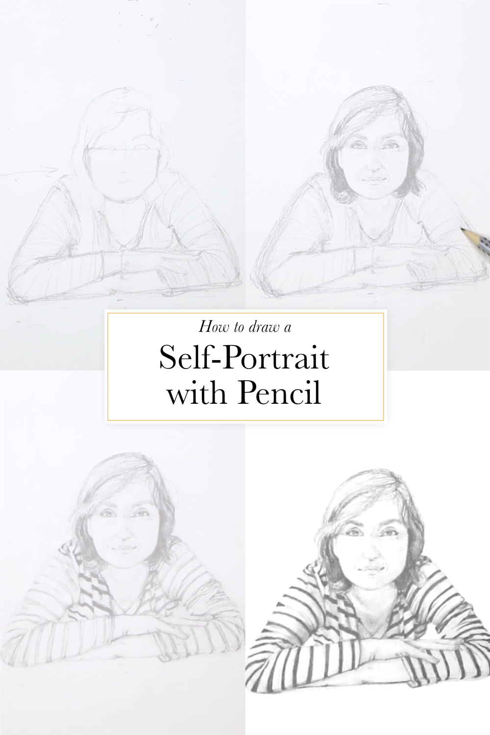 Drawing A Self Portrait With Pencil The Daily Atelier