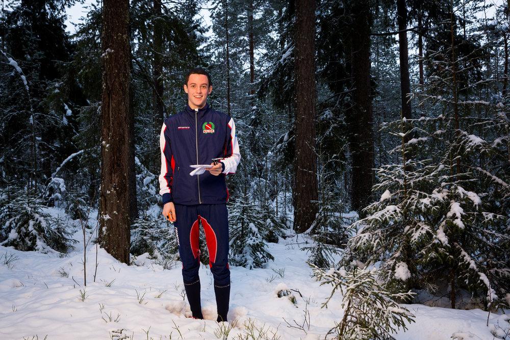 Elite athlete and a student a portrait for SLU Umeå