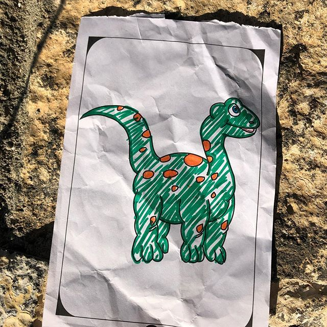 On Saturday when we donated some colouring in books to SOS Children's village in Mauritius, one of the orphans showed us their artistic talent in this beautiful dinosaur and gave it to us as a thank you! ❤️ #kids just want to #play and have #fun #help #change #love #inspiration #give #youth #donation #philanthropy #care #photooftheday #entrepreneur #companiesthatgiveback #happiness #goals #socialgood #positivity #smile