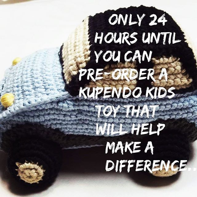 Only 24 hours to go!!!! For every toy you order we will deliver a toy or book to an orphan in need . . . . #launch #new #handcrafted #toys that #giveback #kids #soschilrensvillages #philanthropy #purchasewithpurpose #kupendokids #crochet #handknitted #softtoys #24hours #socialimpact #crochettoys #fairtradetoys #socialgood #givingtuesday #help #socialgood #etsy #kids #babies #moms #dads #parents #parenting #joy #play #education
