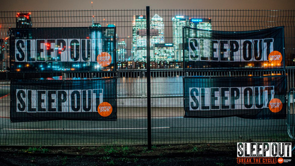 CENTREPOINT, THE SLEEPOUT   Image credit: Centrepoint Outrageously, 86,000 young people ask for help with homelessness each year in the UK! Centrepoint exists to change that, by providing homeless 16-25 year olds with completely life-changing support. This month they have their charity Sleep Out which takes place on 15th November, on Greenwich Peninsula. It's Centrepoint's most exciting fundraising event and sees 1000 people from businesses across London come together and swap their beds for sleeping bags - all to raise loads of money and awareness. It's a serious challenge, but Sleep Out is also a celebration of Centrepoint, with performances, workshops, food and drink. It's time to break the cycle of youth homelessness and you can  sign up here  for £13 if you register before the end of the week – just use the code 'HALPERN13'.  Facebook  |  Instagram  |  Twitter