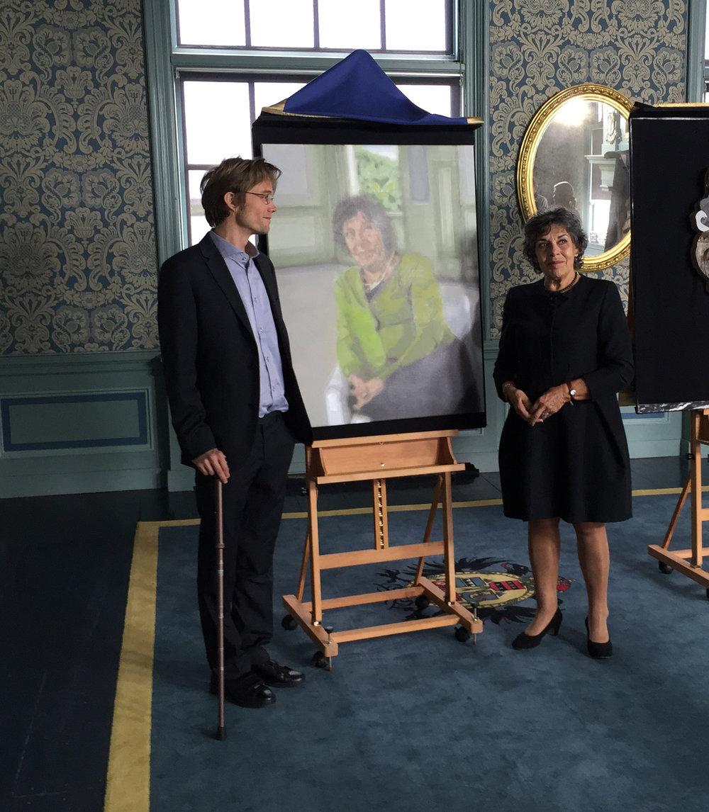 Marko met Hanneke Groenteman