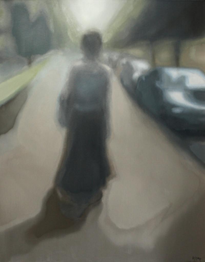 Après le musée , olieverf op doek, 100x80, 2010