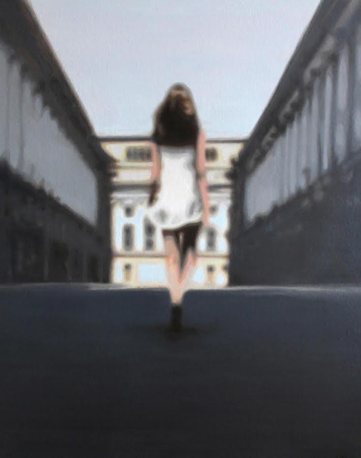 Descensit , olieverf op doek, 80x100, 2013
