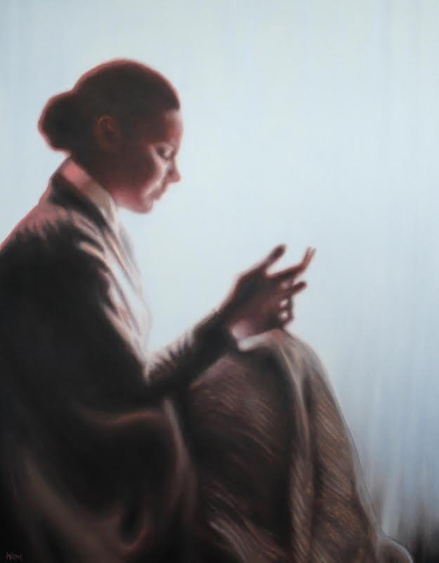 La lettre d'adieu , olieverf op doek, 80x100, 2011