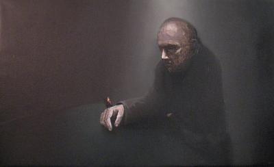 Pokerface , olieverf op linnen, 100x60, 2007