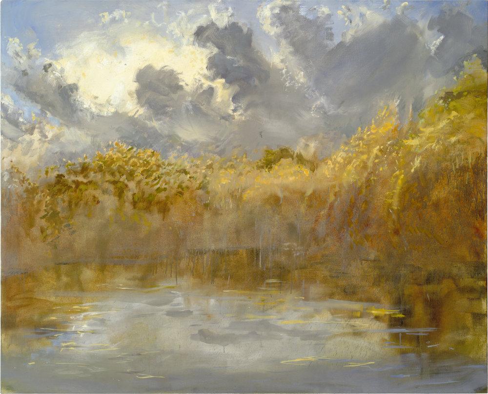 RHSK014 Matsubarako Lake Autumn Evening  ( Oil on Linen ) 131 x 162