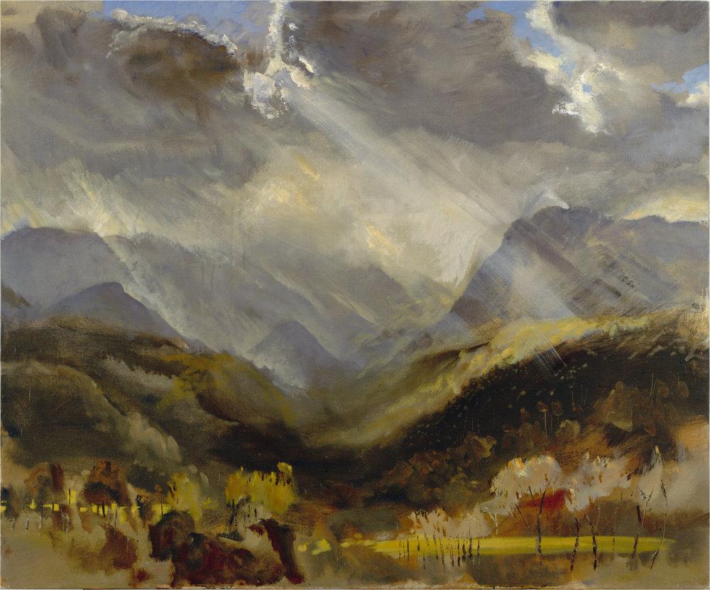 RHSK007 Valley of Tengudake Autumn Evening  ( Oil on Linen ) 91.5 x 110