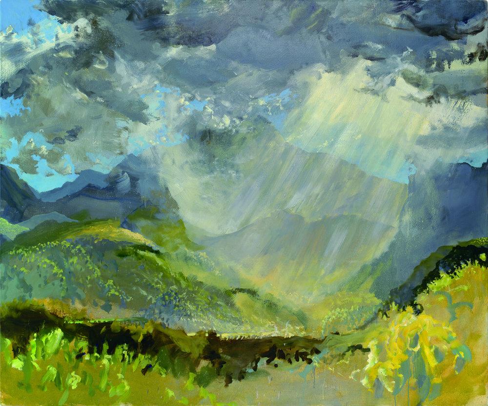 RHSK060 Tengudake and Descending Cloud Light  ( oil on linen ) 163 x 194.5