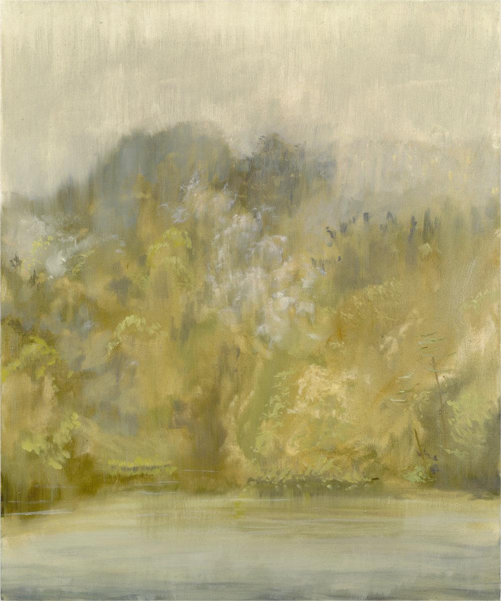 RHSK061 Matsubarako Lake Rising cloud and Rain Mist  ( oil on linen ) 120 x 100