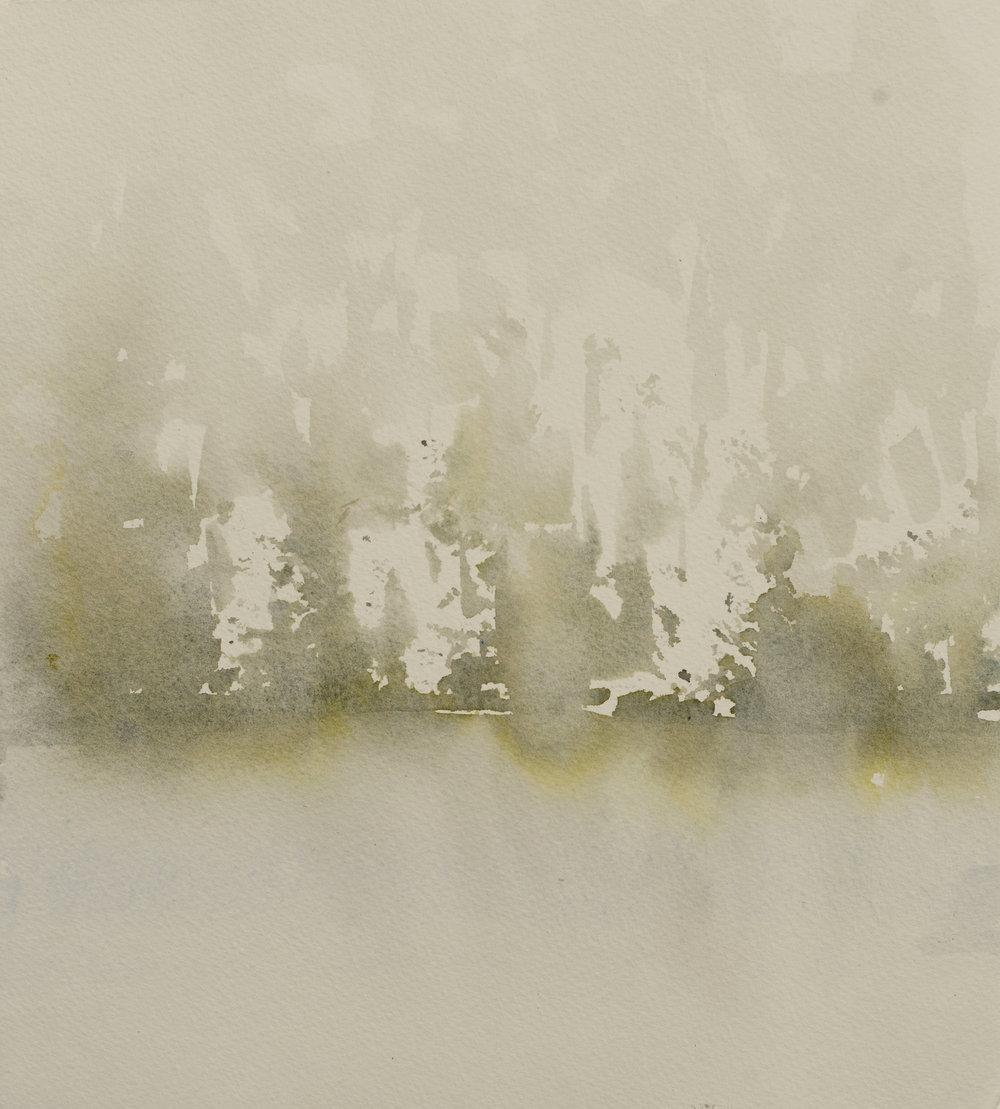 RHSK096 Matsubarako Lake Mist I  ( watercolour ) 30.5 x 28