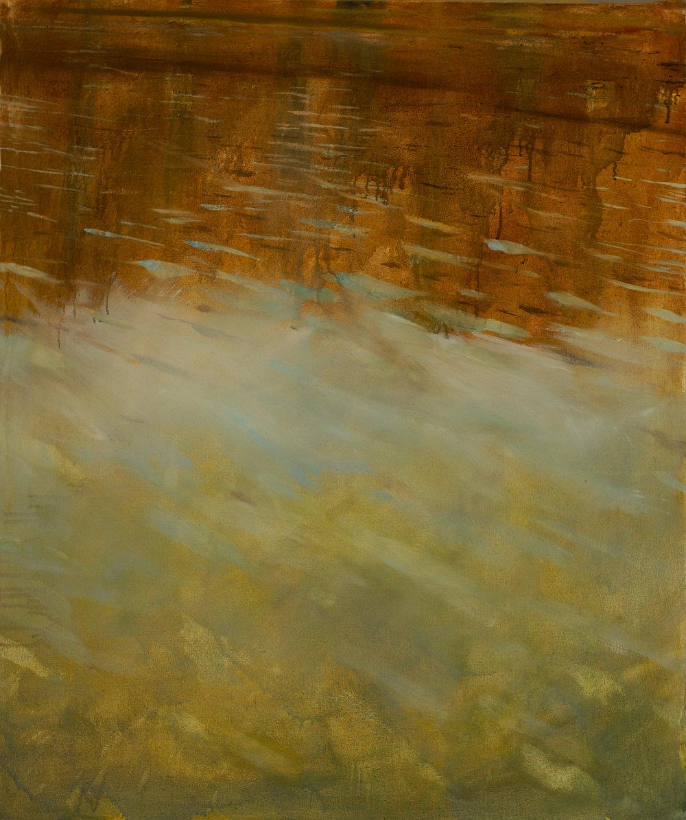 RHSK002 Autumn Lake Matasubarako  (oil on linen) 110.5 X 91.5