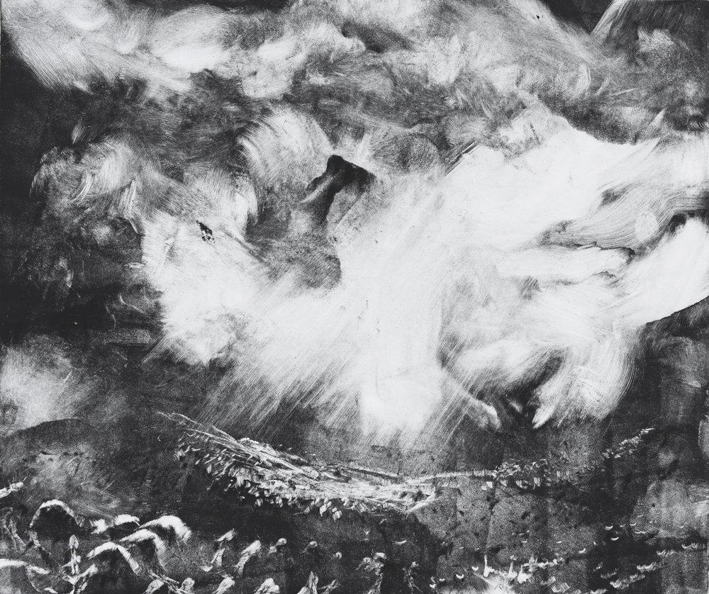 RHSK102 Tengudake and Cloud Light  ( Monotype ) 31 x 38