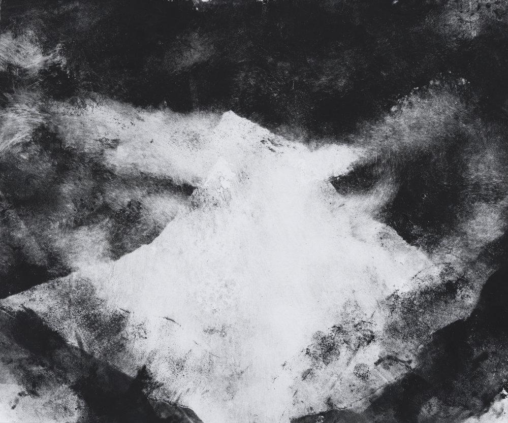 RHSK103 Mountain of Light  ( monotype ) 31.5 x 38