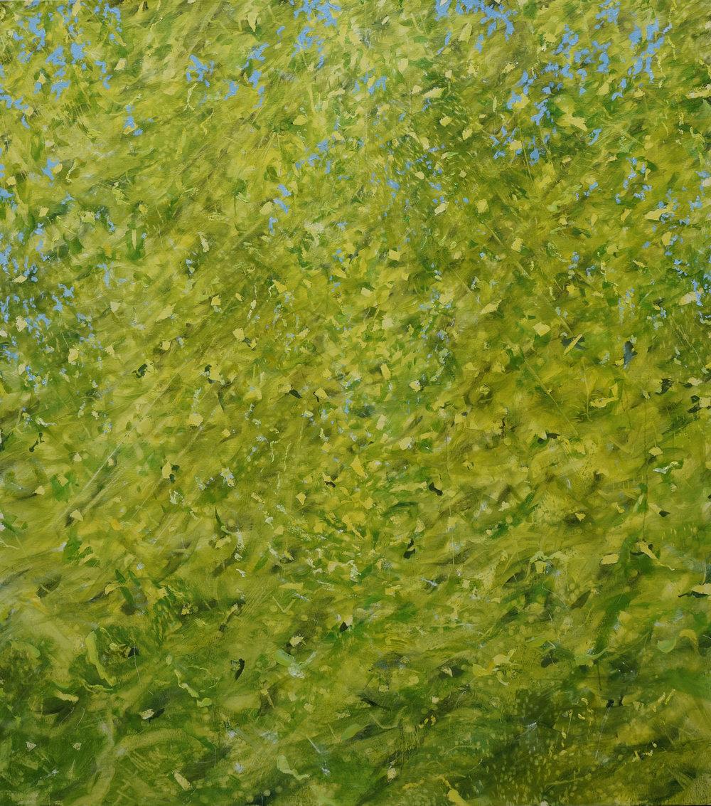 RHSK120 Joyful Light of Summer Koumi Forest  ( oil on linen ) 162.5 x 145.5