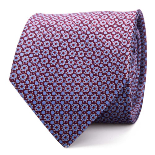 a7d358343383 Micro Pattern Classic Handprinted Silk Tie ...