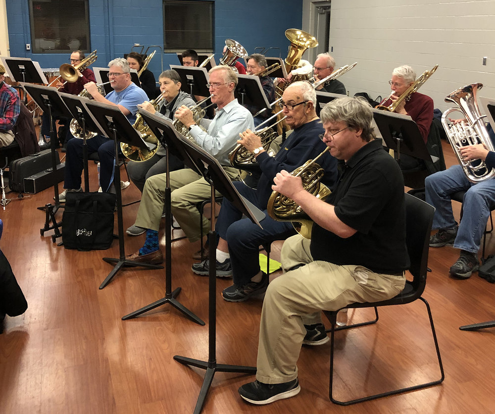 French Horn and Low Brass at rehearsal | December 2018
