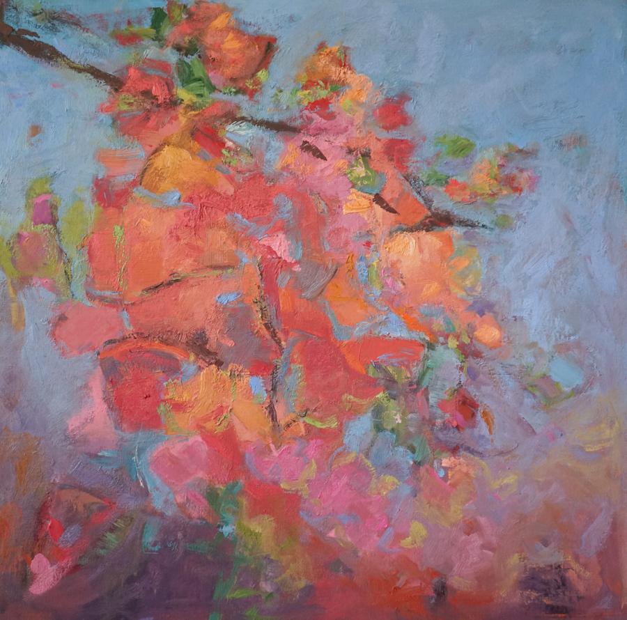 "Clusters II, 30"" X30"", oil on canvas"