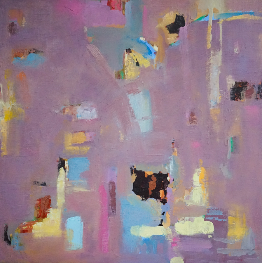 "Field Study, 18"" X 18"" oil on canvas"